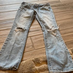 Abercrombie and Fitch Emma Distressed Straight Leg